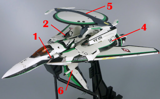 Macross Frontier RVF-171EX Nightmare Plus EX Armament weapon position