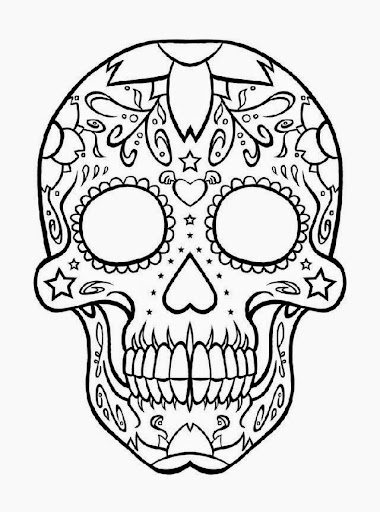 fabulous related keywords u suggestions for adult coloring pages abstract skull with skulls coloring pages - Cinco De Mayo Skull Coloring Pages