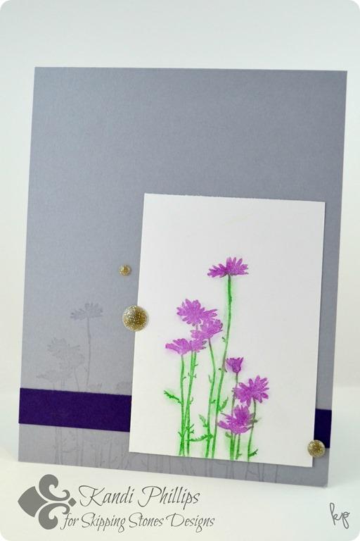 Purple Chalk Flowers