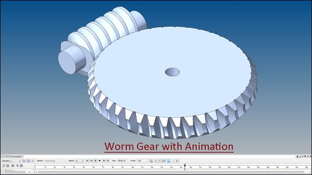 Worm Gear with Animation