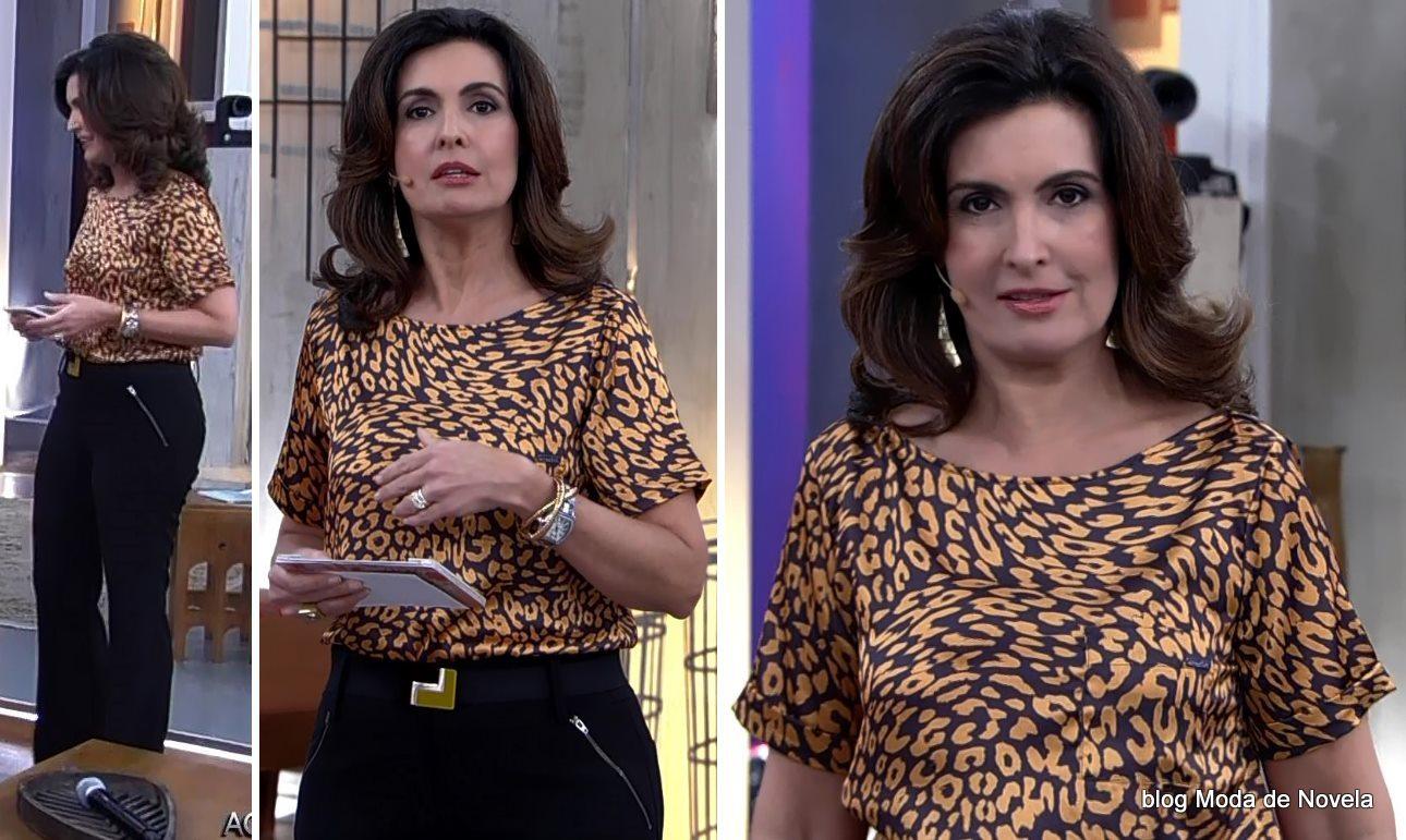 moda do programa Encontro - look da Fátima Bernardes dia 28 de maio