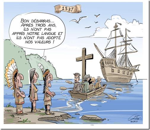 Bon débarras (indigenous offload white settlers)