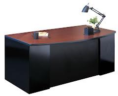 """CSII 39""""D Bow Front Desks, 60""""W x 39""""D x 29""""H, 1 F/F ped"""