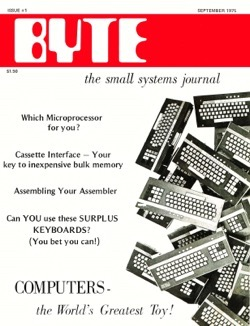 Historical Technology Books:  Byte Magazine Volume 00 Number 01 - The Worlds Greatest Toy - 5 in a series