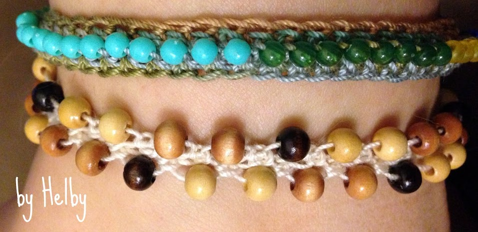 Turkish wood bead anklet