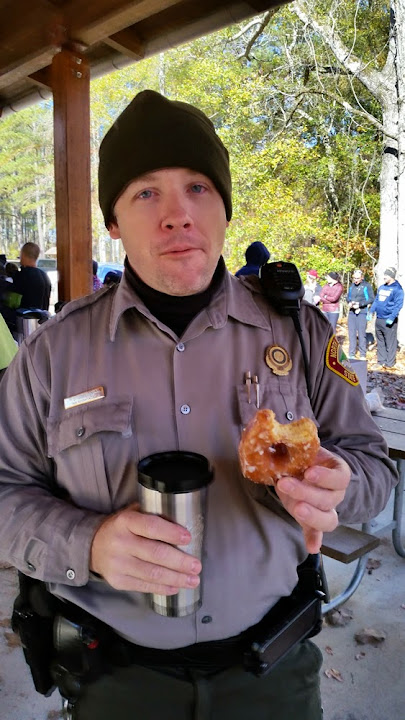Superintendent Jeff Davidson perpetuating the myth about cops and donuts.