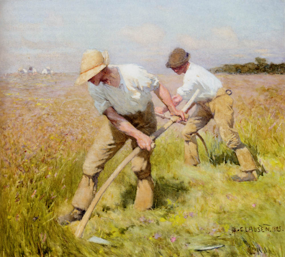 Sir George Clausen - The Mowers