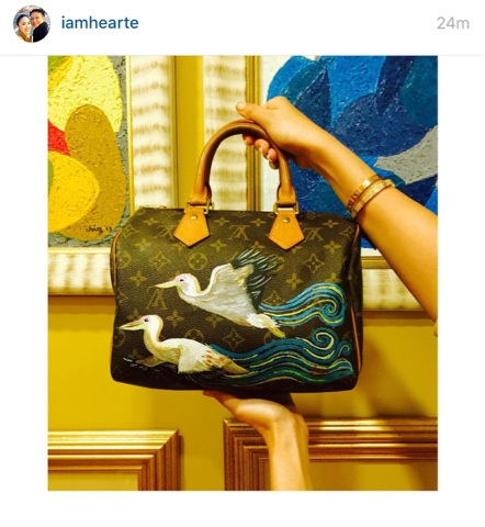 77beeb046cb1 Heart Evangelista uses Luxury bags as canvas