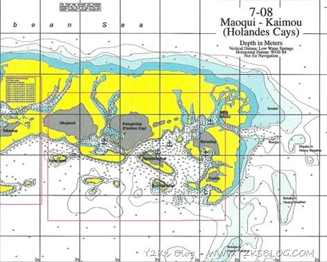 Cayo Holandes Map East