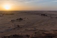 The pyramids close to Karima