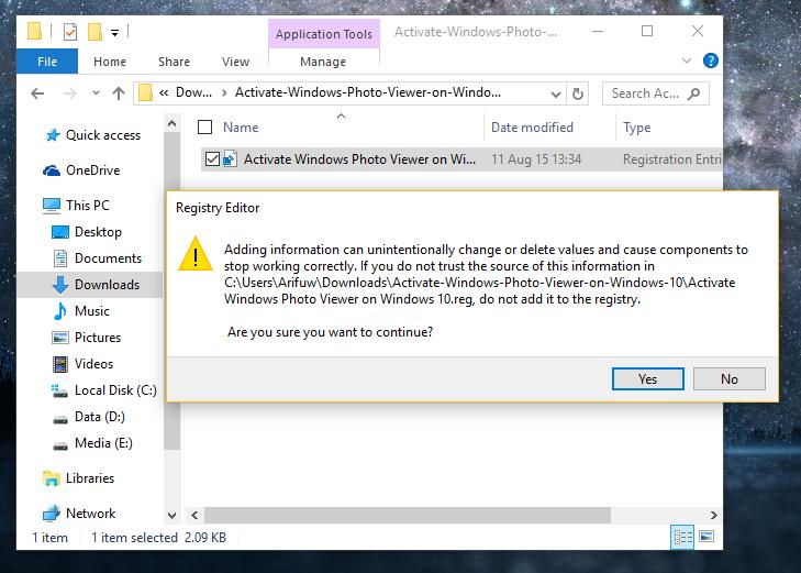 mengaktifkan Windows Photo Viewer 01