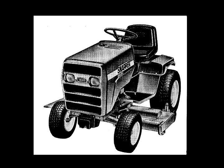 Snapper 1600 1650 1855 Service Manual For Tractor Workshop