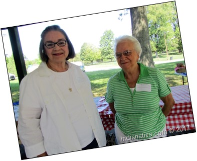 Janet Weber Jenkins and Carole Ditlinger Greer at 2017 Weber Kuhn Reunion. Great fun getting acquainted.