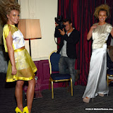 WWW.ENTSIMAGES.COM -  Yasmin St Clair-Pearce  and Zara StClair-Pearce  at  Neobotanic Fashion SS14 exotic landscape collection at The Millennium Hotel  London October 14th 2013Photo Mobis Photos/OIC 0203 174 1069