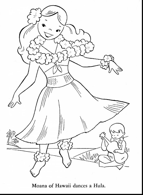 Terrific Hawaii Coloring Pages For Kids With Hawaiian Coloring Pages And Hawaiian  Coloring Pages