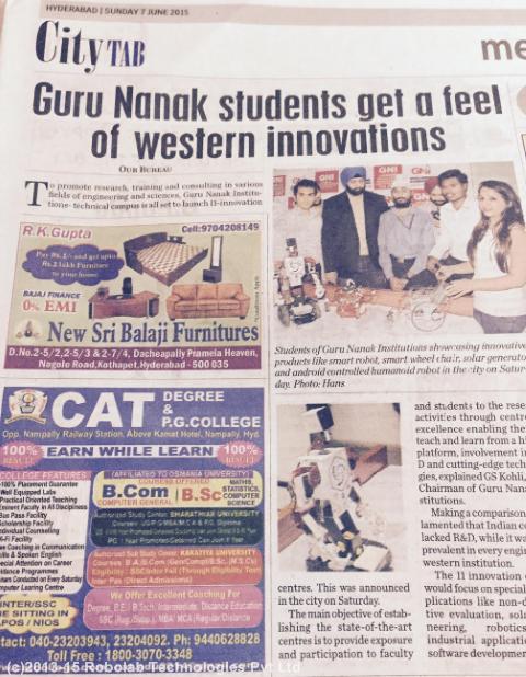 Guru Nanak Institutions Hyderabad, Robolab News(76).png