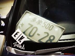 JDM Licence Plate