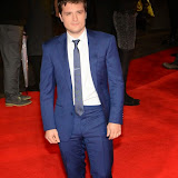 WWW.ENTSIMAGES.COM -   Josh Hutcherson   at      The Hunger Games - Mockingjay - part 1 - UK film premiere at Odeon Leicester Square, London November 10th 2014Premiere of latest film in the Hunger Games franchise, which this time sees Katniss lead a rebellion against the tyrannical and corrupt Capitol.                                              Photo Mobis Photos/OIC 0203 174 1069