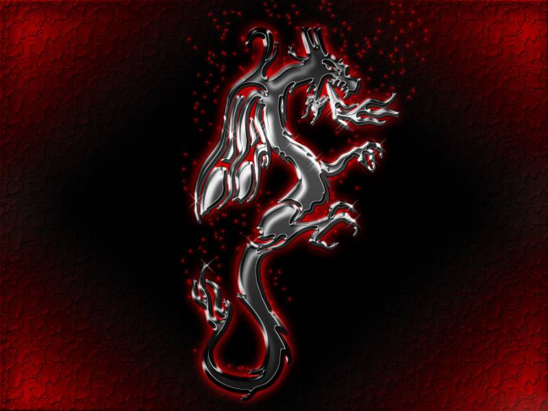 Red Dragon On Black, Dragons