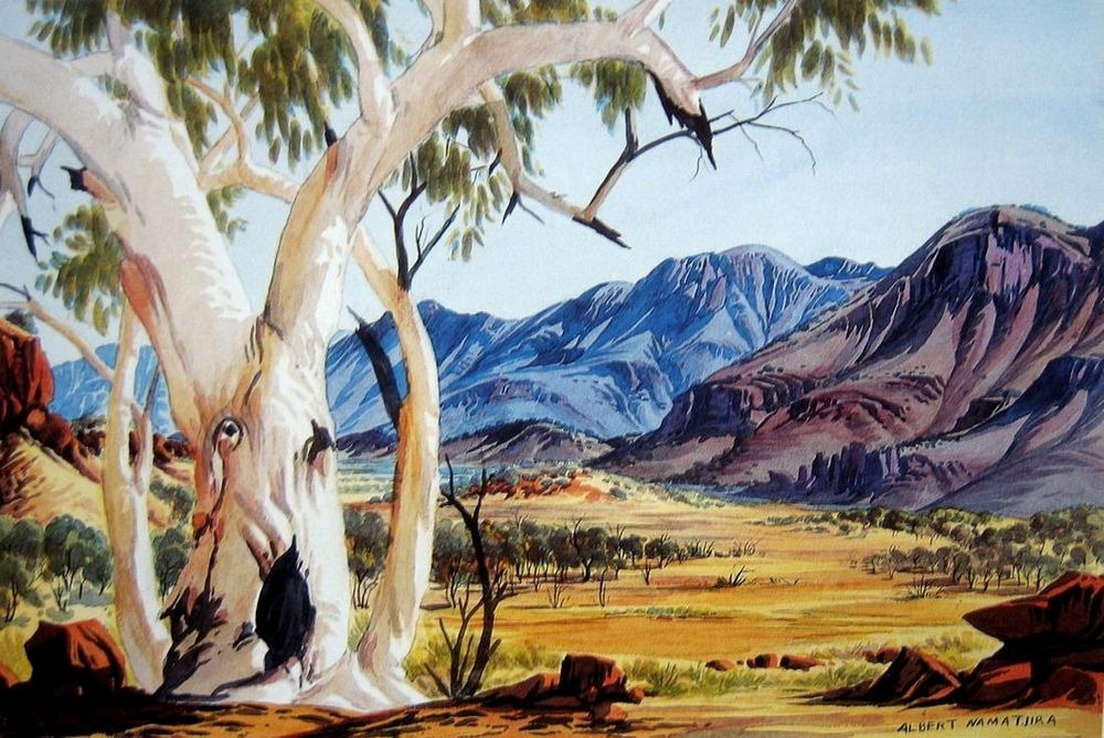 Trees made famous by movies music art and literature for Australian mural artists