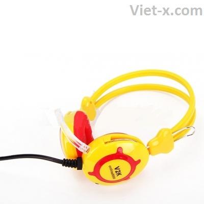 Tai nghe phòng Game trâu vàng V2k giá rẻ chính hãng