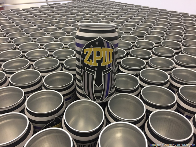 Rockyard Canning 2018 Blue Ale for ZPIII Memorial Softball Tournament