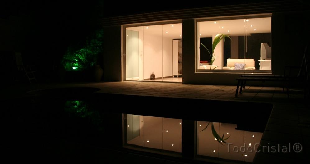Glasvorhang Küste Terrasse