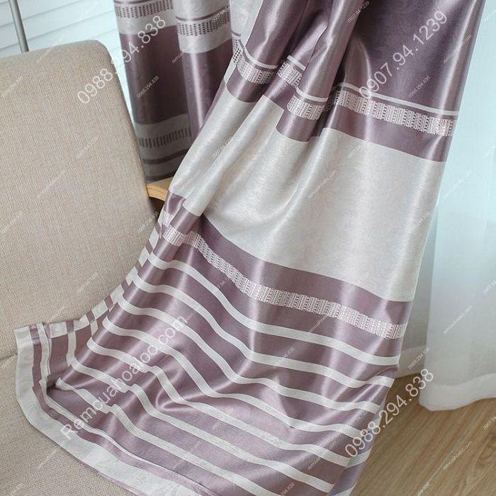 Rèm cửa đẹp cao cấp một màu tím nhạt  14