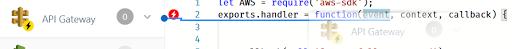dragging API Gateway trigger