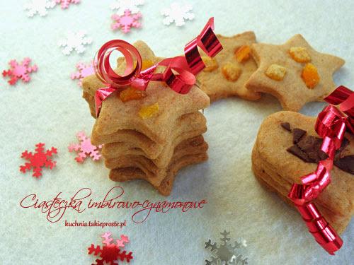 Ciasteczka imbirowo-cynamonowe