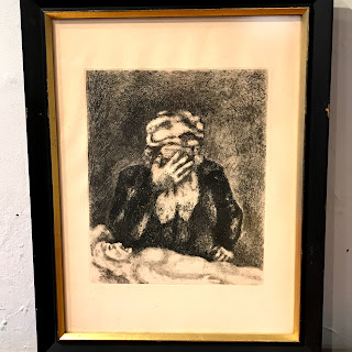Marc Chagall 'Abraham Mourning for Sarah' Etching