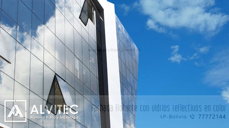 Color de vidrios reflectivos para fachadas flotantes