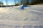 Snow tide line.