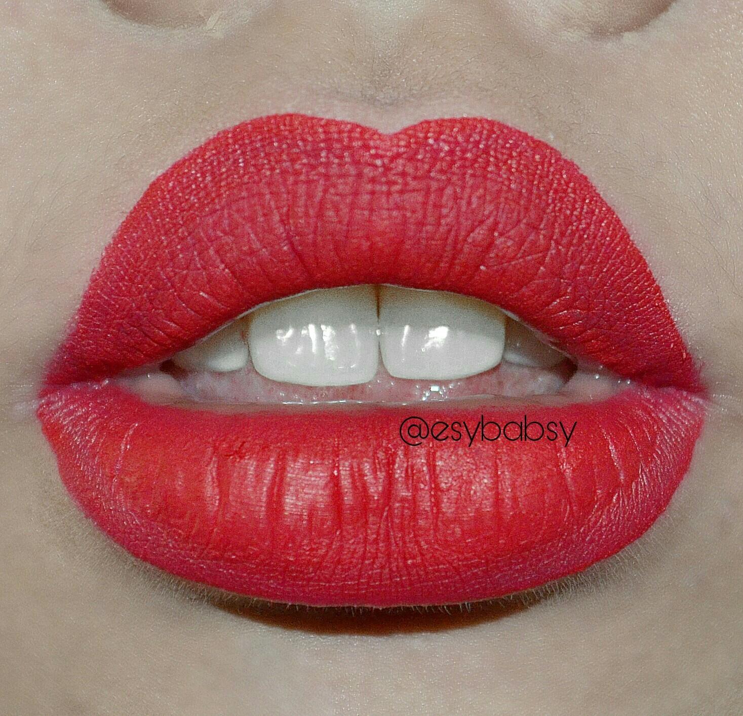Wardah Exclusive Matte Lip Cream 08 Pinkcredible Source FEELING RED ini adalah merah .