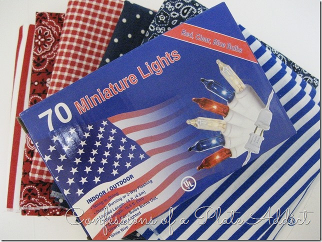 CONFESSIONS OF A PLATE ADDICT Indoor-Outdoor Lighted Patriotic Garland supplies