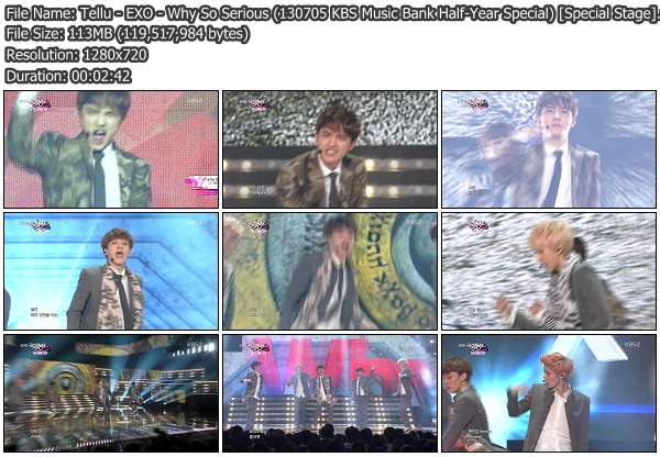 [Perf] EXO   Why So Serious @ KBS Music Bank Half Year Special 130705 (Special Stage)