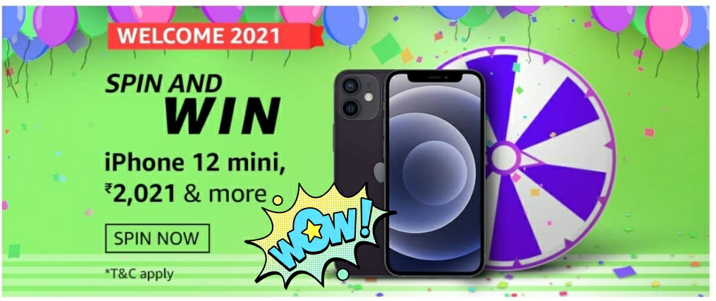 Amazon Welcome 2021 Spin And Win-Exciting Rewards 1