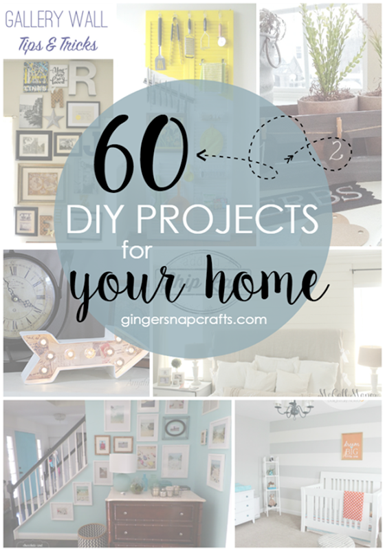 Over 60 DIY Projects for Your Home at GingerSnapCrafts.com #DIY #features_thumb
