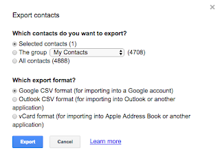 Copy contact tip - How to copy contact information for