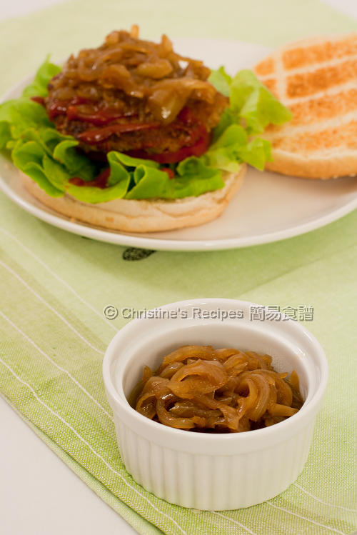 意大利黑醋焦糖洋蔥 Hamburger with Balsamic Caramelized Onions01