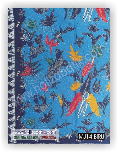 Kain Batik Murah, Gambar Kain Batik, Baju Batik Terbaru, MJ14 BIRU