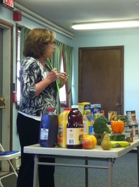 Sue Bartolini, Corporate Dietitian giving a presentation at Rutland Senior Center