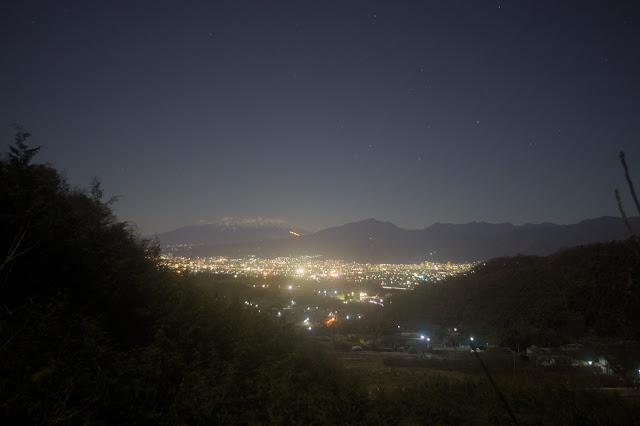八ヶ岳遠望 夜景