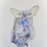 'MANGEL'  - Installation - Watercolour, linnen, charcoal, on paper