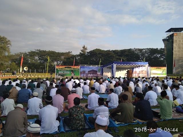 Shalat Idul Fitri 1439 H di Lapangan Rindam IV Diponegoro kota Magelang