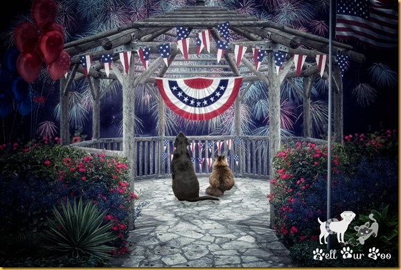 July 4th Matt & Matilda (©Bell Fur Zoo)