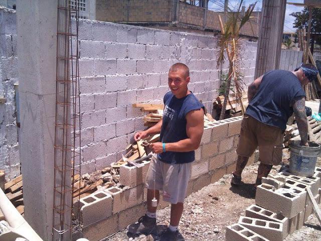 Seth and Joel blocking the wall