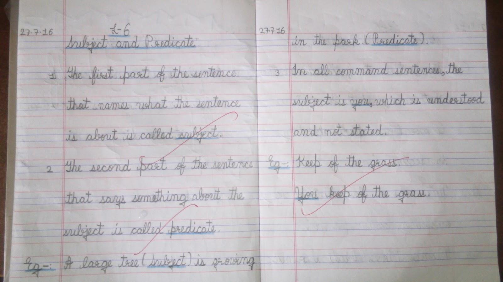 english essay class 6