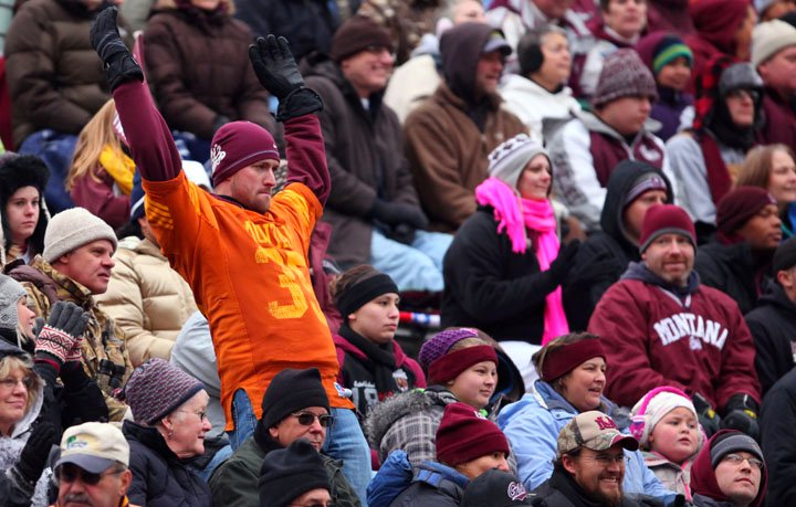 A Griz fan reacts to a penalty called on the Grizzlies.