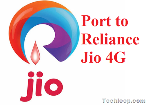 Port to Reliance Jio 4G